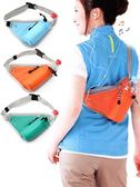 跑步腰包 旅行登山水壺腰包胸前包女戶外跑步腰包斜挎包多功能運動胸包男款
