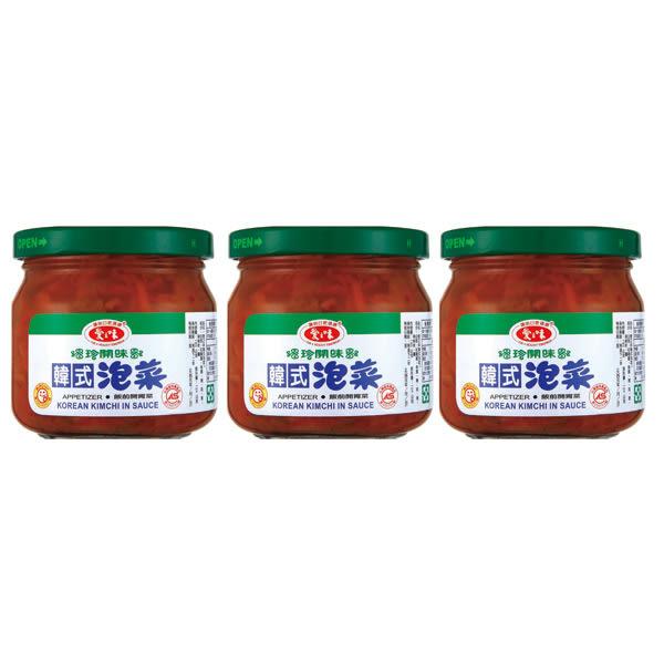 愛之味韓式泡菜 190g單罐【合迷雅好物超級商城】