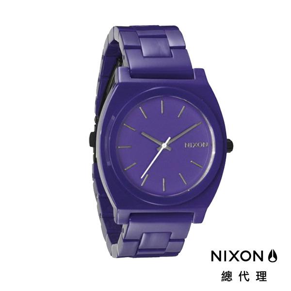 【官方旗艦店】NIXON TIME TELLER 極簡小錶款 紫 潮人裝備 潮人態度 禮物首選