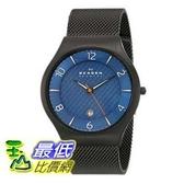 [104美國直購] Skagen 男士手錶 SKW6147 Grenen Black Titanium Watch with Mesh Band $4840