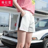 週年慶優惠-運動短褲闊腿韓版寬鬆新款夏大碼學生女休閒熱褲