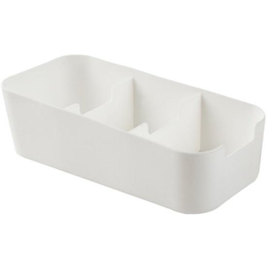 分類整理盒 分格 儲物盒 貼身衣物 文具 小物收納 櫥櫃 抽屜 疊加 三格收納盒【K129】米菈生活館
