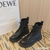 網紅厚底馬丁靴女2020夏新款英倫風ins潮瘦瘦靴復古黑色機車短靴 Cocoa