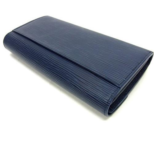 茱麗葉精品 全新精品Louis Vuitton LV M60585 Sarah EPI水波紋皮革發財包扣式長夾.深藍(預購)