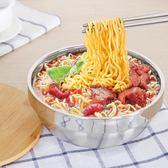泡麵碗 不銹鋼帶蓋湯碗餐具創意大碗米飯碗家用拉面碗方便面碗 QG1779『優童屋』