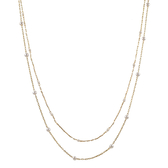 〔APM飾品〕日本Kaza 優雅點滴珍珠雙鍊短鍊 (金色款) (銀色款)