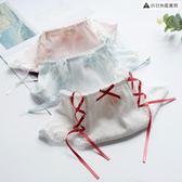 日系甜美風螺紋棉兩側可愛系帶少女中腰包臀【聚寶屋】