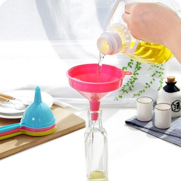 塑料長柄大口徑漏斗家用廚房酒壺分裝小漏斗油壺液體分裝工具油漏