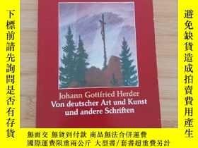 二手書博民逛書店Herder罕見  Von deutscher Art Kunst. andere Schriften 赫爾德 《