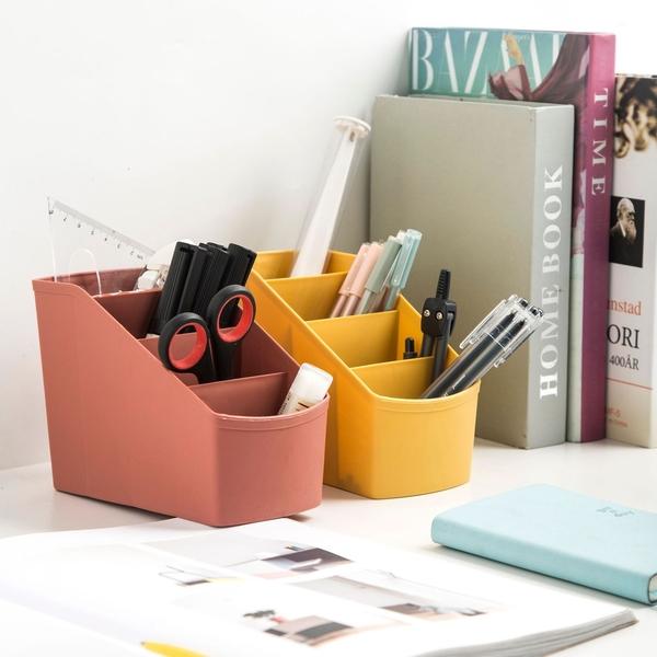 整理盒 置物盒 分類 遙控器盒 筆筒 收納盒 分格 摩登系列 四格漸層收納盒【F039】慢思行
