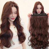 限定款假髮 韓系假髮女長捲髮大波浪 韓系可愛長髮直髮蓬鬆自然u型半假髮片一片式