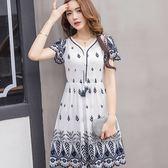 民族風刺繡花紋俏麗洋裝(兩件套)~美之札