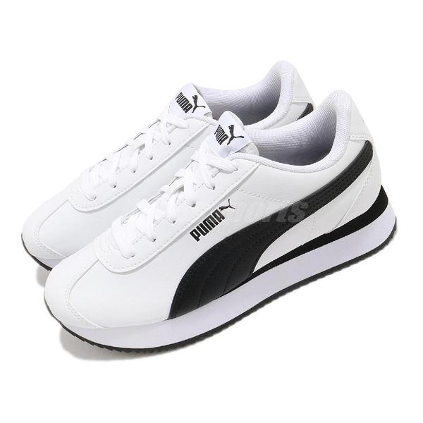 Puma 休閒鞋 Turino Stacked 白 黑 女鞋 厚底 增高 運動鞋 【ACS】 37111508