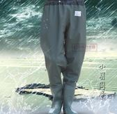 下水褲半身防水雨褲加厚釣魚捕魚衣服男連體雨鞋齊腰漁褲耐磨