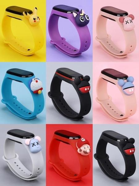 小米手環4腕帶 小米手環3/2替換帶 3nfc版腕帶 二三四代智慧手錶表帶運動硅膠個性潮時尚 歐歐