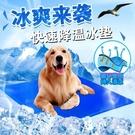 寵物坐墊 寵物冰墊狗狗涼席冰床夏天降溫水墊床墊狗墊子辦公室汽車凝膠坐墊