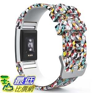 錶帶 MoKo Fitbit Charge 2 Band, Soft Silicone Adjustable Replacement Sport Strap Band B01J0S9GB6