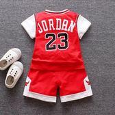 兒童籃球服套裝幼兒園表演服男童兩件套