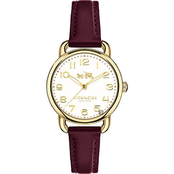 Coach Delancey 紐約風摩登腕錶-白x黑/35mm