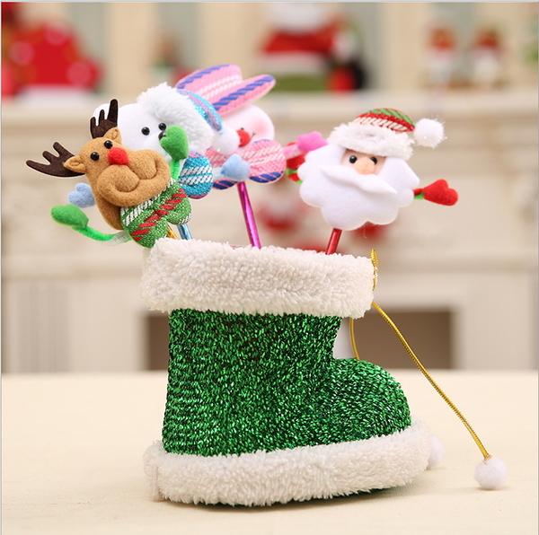 聖誕裝飾品聖誕老人雪人鹿熊創意圓珠筆小學生聖誕節禮物禮品獎品─預購CH2521