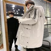 男士冬季外套2019年新款韓版潮流冬天中長款棉襖羽絨棉衣工裝棉服 琉璃美衣