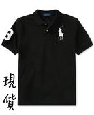 美國代購 現貨 青年版 Polo Ralph Lauren 黑色大馬 POLO衫 (XL) ㊣