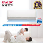 SANLUX台灣三洋 一對一變頻冷暖分離式冷氣 時尚型 (SAE-V41HF/SAC-V41HF) 含基本安裝