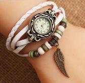 手錶女  時裝復古女表皮手鍊表  汪喵百貨