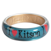 KITSON- I Love Kitson 愛心LOGO手環(藍綠色)140311