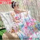 海灘沙灘裙新款夏仙女波西米亞長裙巴厘島海邊度假顯瘦 洛小仙女鞋