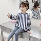 女童T恤新款春秋裝中大童長袖體恤兒童韓版春裝百搭寬鬆上衣 至簡元素