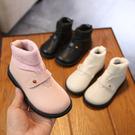 2019新款秋冬寶寶靴子兒童馬丁靴女童短靴加絨小童公主二棉鞋女孩