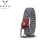 【橘子包包館】VOVA 穿針式皮帶 彈性編織皮帶 VA011-004 穿孔式皮帶
