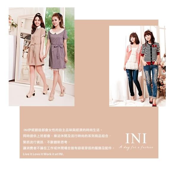 【INI】活力休閒、條紋印花真兩件寬版上衣.淺灰色