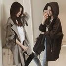 風衣外套 風衣女中長款小個子2020新款今年流行連帽外套氣質英倫風薄大衣潮 零度3C