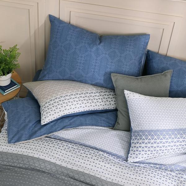 鴻宇 雙人床包組 100%精梳純棉 特調藍 台灣製C20107