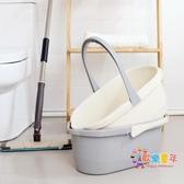 釣魚桶 家用塑料長方形拖把桶加厚大水桶儲水塑料桶手提平板拖布桶 4色
