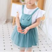 童裝女童背帶裙夏季2018新款夏裝裙子 ZL1167『夢幻家居』