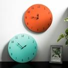 客廳時鐘 北歐簡約ins風原木無框電池時鐘簡美圓形客廳飯店裝飾品數字掛鐘【快速出貨八折搶購】