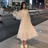 溫柔風法式洋裝子仙女超仙森系秋冬初戀公主中長款模式穿搭 草莓妞妞