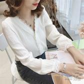 初秋新款輕熟網紅上衣寬鬆雪紡白色襯衫女設計感小眾港風襯衣 衣櫥秘密