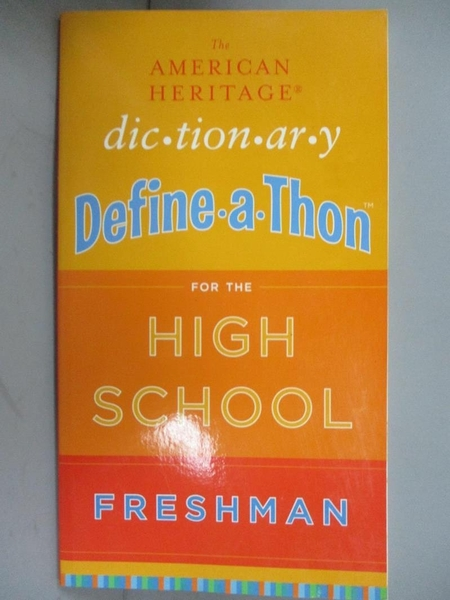 【書寶二手書T1/兒童文學_JEG】The American Heritage Dictionary Define-a-Thon for..