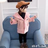 女童秋冬裝新款加絨兒童裝外套1-3歲女寶寶洋氣加厚公主風衣  潔思米
