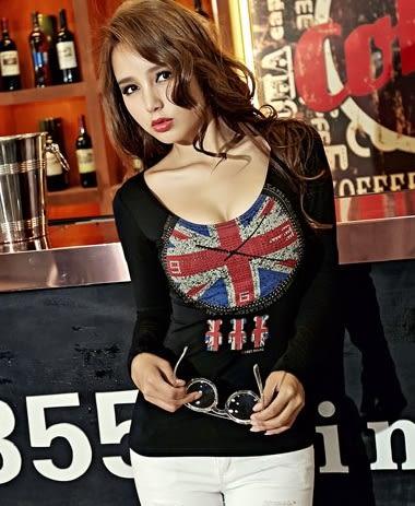 *魔法之城*P32281經典火辣性感百搭精品熱銷新款修身長袖薄T恤