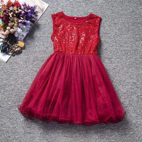 衣童趣 ♥韓版中大女童 公主裙洋裝 閃亮亮 無袖連身裙 正式場合 甜美必備款洋裝
