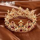 巴洛克女王大皇冠新娘發箍結婚發飾婚紗韓式...