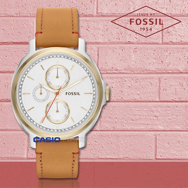 FOSSIL 手錶 專賣店 ES3523 女錶 石英錶 真皮錶帶  防水 全新品 保固一年