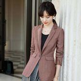 一粒釦金屬色顯腰OL長袖西裝外套上班/休閒[9X272-PF]小三衣藏