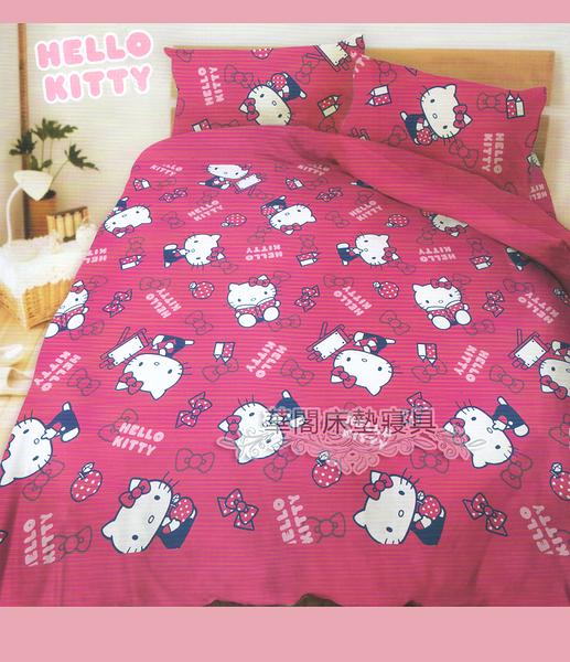 *睡美人寢具工坊*《HELLO KITTY─生活點滴》單人床包組【床包+枕套*1】台灣三麗鷗授權授權  MIT