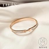 金色手鐲女手飾品時尚鑲嵌小眾設計鈦鋼手鏈【貼身日記】